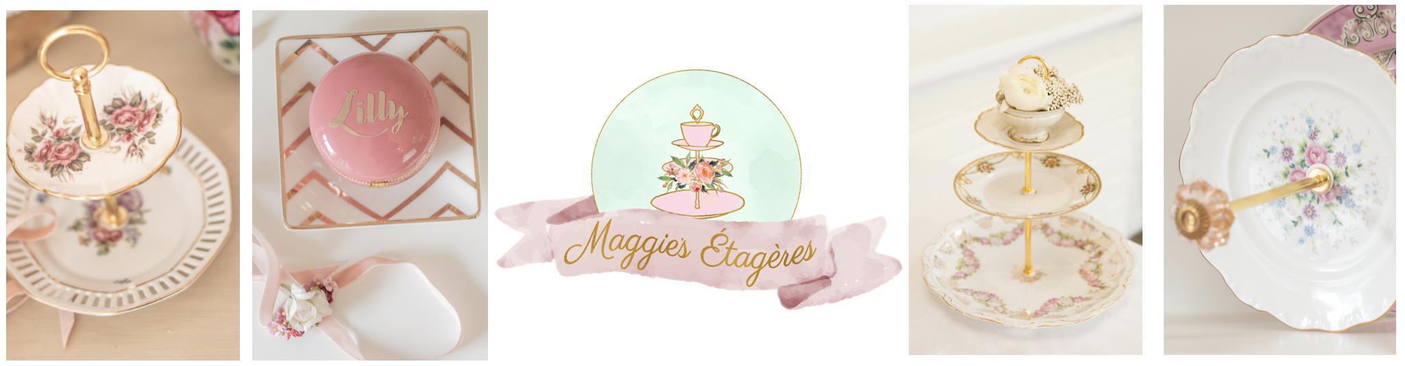 handgefertigte Etageren aus vintage Porzellan von Maggie's Etageres personalisierte Geschenke exklusive Wohnaccessoires